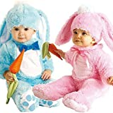 Baby Boys Girls Pink or Blue Easter Bunny Rabbit Halloween Fancy Dress Costume Outfit (0-6 months, Pink) by Fancy Me