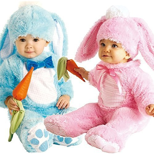 Baby Jungen Mädchen rosa oder blau Osterhase Halloween Kostüm Kleid Outfit - Rosa, 12-18 Monate (Monate Halloween-kostüme 12-18)