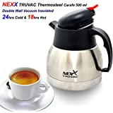 Nexx TRUVAC,Stainless Steel Tea Kettle, Thermosteel Carafe(Silver, 500ml, Pack Of 1)