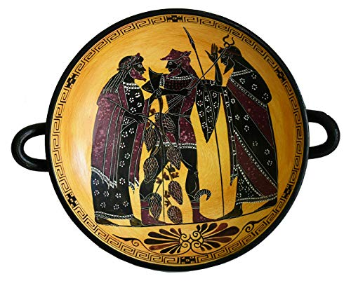 Talos Artifacts Dionysus God of Wine and Hermes The Messenger of Gods Black Figure Small Kylix
