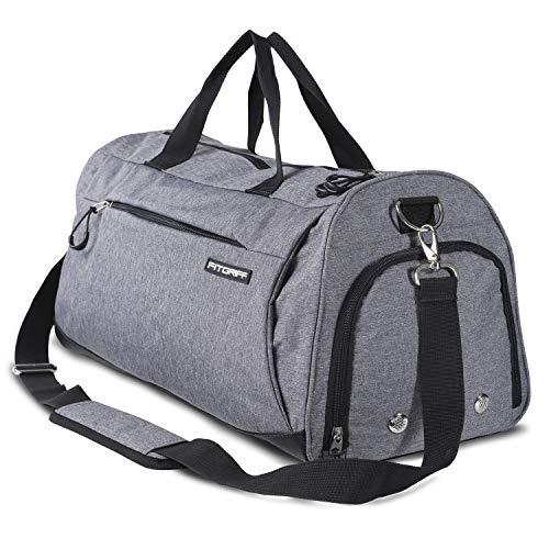 Fitgriff Sporttasche mit Schuhfach und Nassfach - kleine Sport Tasche für Frauen und Männer - Größe Small: 48cm x 26cm x 25cm [30 Liter]
