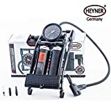 Heyner Pedalmax Pro Fußpumpe,140PSI, 10Bar, Black Edition,Premium,...