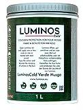 Luminos Cold. LUM1152- MOSS - Holz Lasur Reflektiert die IR-Strahlen. Farbe Moosgrün. 1L