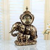 Europäische Vintage-Stil Größe als die Uhr lautlose Bewegung von der Sonnenuhr Harz Clock Clock-B