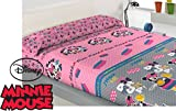 Juego Sábana Polar Oficial DISNEY Miss Minnie Mouse SHOP TILL ( Cama de 90 )