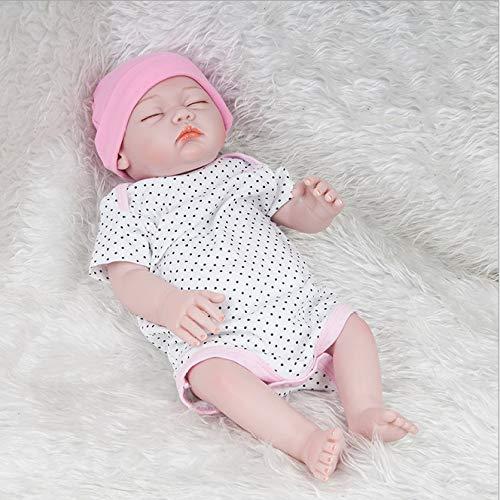 YAHAO 20-Zoll-lebensgroße Simulation Puppe Spielzeug 52 cm Wiedergeburt Neugeborenes Baby Puppe Mädchen Funktionelle Baby Doll - Baby Simulator