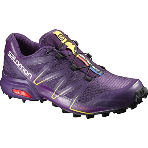 Salomon L38309000, Zapatillas de Trail Running para Mujer, Morado (Cosmic Purple/Passion Purple/Black), 40 2/3 EU