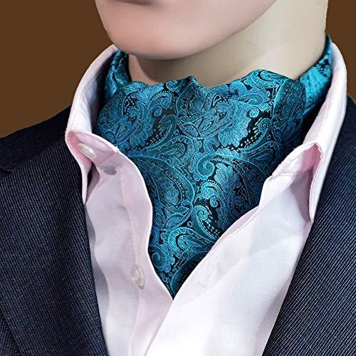 QIANGDA Krawattenschal 100% Seide Quadratischer Schal Formal Winter, 46,5 X 6,3 Zoll, 12 Farben (Farbe : L) Formale Schal