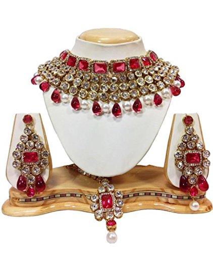 zoom earrings and studded jewellery temple girls traditional for ybnk with by necklace exclusive shop pearl youbella plated gold women set