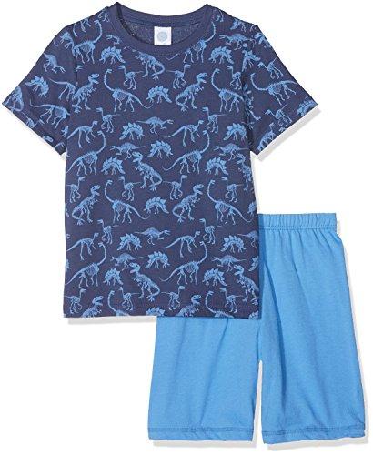 Sanetta Sanetta Baby-Jungen Zweiteiliger Schlafanzug 232106, Blau (Washed Blue 50110), 92