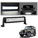 #5: Vheelocityin 72 Watt 24 LED Car Fog Light Auxiliary Light Bar Light For Mahindra Thar
