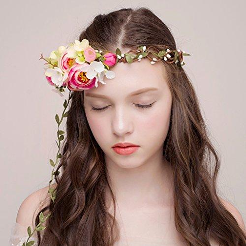 Fantine (SINCERE@ Fantine Sen weibliche Linie der grünen Blätter Blumen Urlaub Kranz Braut Kopfschmuck Hochzeit mit Zubehör)