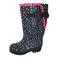 Jileon Extra Wide Calf Wellies with Rear Expansion- Fit up to 50cm Calf - for Men and Women - Large in The Ankle and Foot