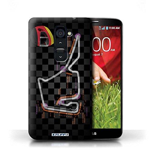 Kobalt® Imprimé Etui / Coque pour LG G2 / USA/Austin conception / Série 2014 F1 Piste Allemagne