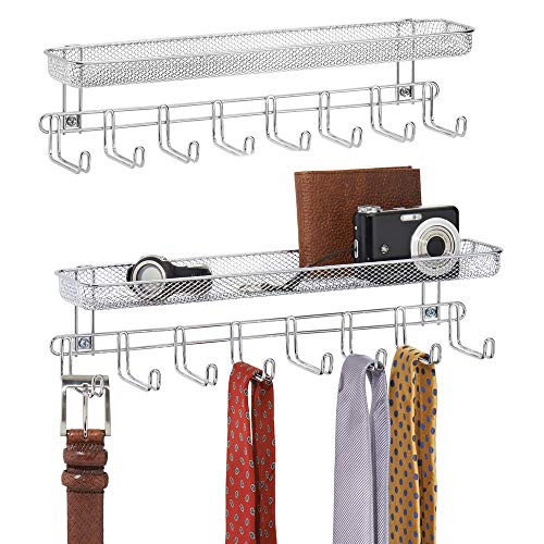 MDesign Juego 2 perchas pañuelos estantes montaje