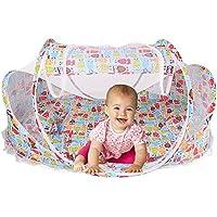 Cuna para bebé portátil con red mosquitera de Sinotop, cama para bebé plegable y portable con tela mosquitera para viajar, para bebés de entre 0 y 18 meses, rosa