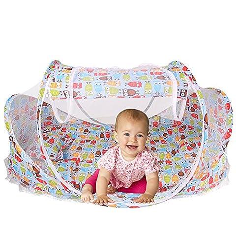 Reisebett Reisebettzelt BabyzeltFaltbettTravel Cot Kinderzelt Schlafmatte Babybett für Reisen Weihnachten Geschenk 0-12 Monaten Baby