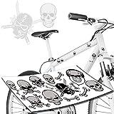 style4Bike Skelett & Totenkopf Skull Aufkleber Jugendrad Kinderrrad Jungen/Sticker Top