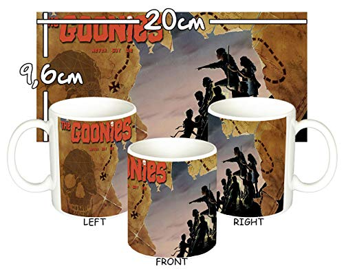 The Goonies Character Silhouette and Map  Mug