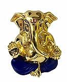 #10: Karigaari India Gold Plated Blue Ganesha Idol /Ganesha for Home Decor/Ganesha for Car/Ganesha for Gifting Purpose