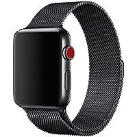Apple Watch Cinturino 42mm, Cinturino Apple Watch 42mm con Unico Magnete di Blocco, Orologio Bracciale in Acciaio Inossidabile Watch Band per Apple Watch Serie 1,Serie 2,Sport,Edition 42mm (Nero)