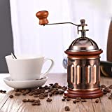 Virtue 2017 New Arrival Retro Design Mini Manual Mill Wood Stand Bowl Antique Hand Coffee Bean Grinder Ceramic