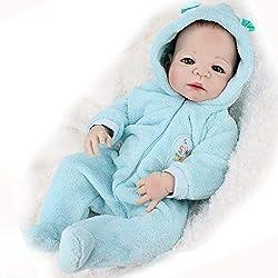 ZIYIUI 18 Pulgadas Reborn Baby Doll Sin muñeca de Pelo Mira Real Cuerpo Completo de Silicona Hecho a Mano Regalos de bebé