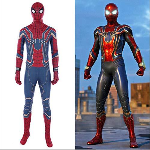 Spiderman Cosplay Kostüm Verkleidung Kostüm Spandex Jumpsuits Bodysuit Halloween Kostüm,Adult-XXXL ()
