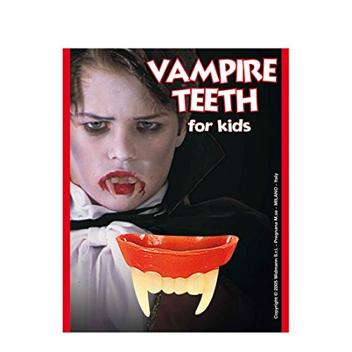 Vampir Zähne für Kinder Halloween Zubehör Vampirzähne Dracula Gebiss Fasching Karneval Vampire Twighlight Vampirgebiss