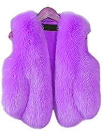 FOLOBE Bambino e Donna Faux Fox Fur Coat Jacket Gilet Caldo Inverno Caldo  Gilet Bambini Outwear 5870e7107aa