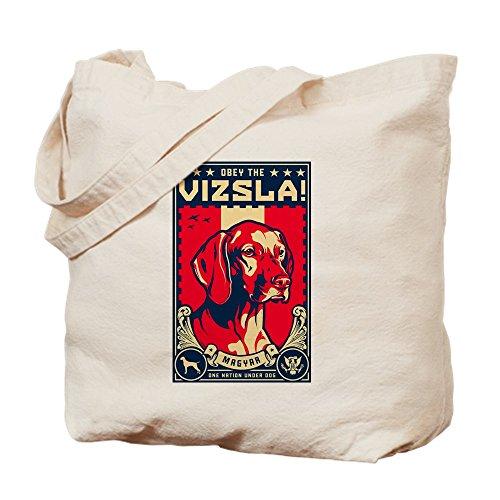 CafePress–American vizsla- Obey The V.–Leinwand Natur Tasche, Reinigungstuch Einkaufstasche S khaki