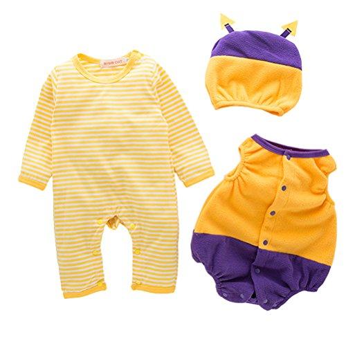 Allerheiligen Kostüm Kinder - ARAUS-Baby Kostüm Outfits Strampler+Mütze+Mantel Allerheiligen Spielanzug für Kinder 3-18 Monate