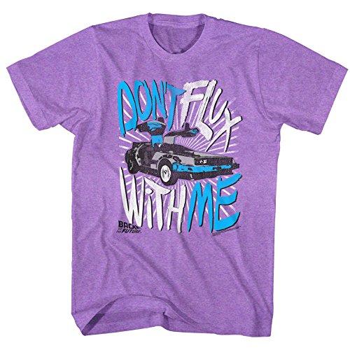 Back To The Future - Herren-Flux Off T-Shirt Neon Purple Heather