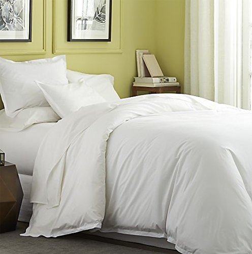 [hachette] DOUBLE SIZE WHITE 100% EGYPTIAN COTTON FITTED SHEET IN 200 THREAD COUNT 200TC PLAIN