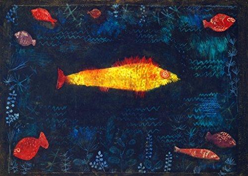Kunstdruck/Poster: Paul Klee Der goldene Fisch - hochwertiger Druck, Bild, Kunstposter, 55x40 cm
