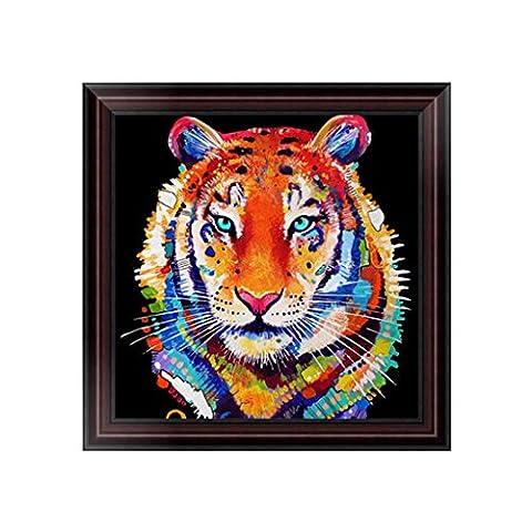 Dairyshop DIY Tigre 5D Peinture De Diamant Point De Croix Broderie Diamant Rond Painting Kits Salon Chambre Décoration