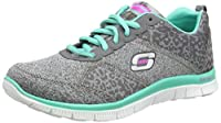 Women's Flex Appeal - Tribeca Training Shoes Rule the urban wilderness with the SKECHERS Flex Appeal - Tribeca shoe. Soft heathered jersey knit fabric upper in a lace up athletic sporty training sneaker with stitching accents and subtle animal print ...
