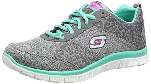 Skechers Flex AppealTribeca, Damen Sneakers, Grau (CCTQ), 39 EU