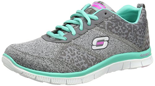 Skechers - Flex AppealTribeca, Sneaker Donna Grigio (Grau (CCTQ))