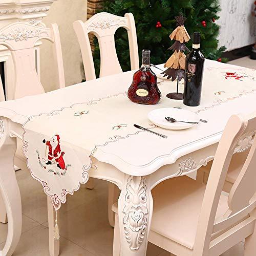 SPFAZJ Weihnachtstisch Europäische Weihnachten Dekoration Tischfahne Bestickt Skelett Tabelle Flagge Santa Tisch Handtuch Leben Hostel Chr Istmas Dekorationen
