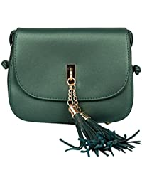 Mei&ge PU / Synthetic Leather Stylish Sling Bag / Purse For Women & Girls Color - Shimmery Green (1225)