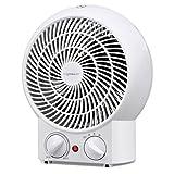 Aigostar Airwin White 33IEK- Heizlüfter mit einstellbarem Thermostat, warm und kalt Dual-Funktion, 2000 Watt mit Überhitzungsschutz. Exklusives Design.