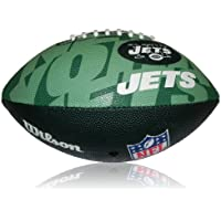 Wilson Football NFL Junior New York Jets Logo - Balón de fútbol americano (infantil, caucho), color multicolor, talla 5