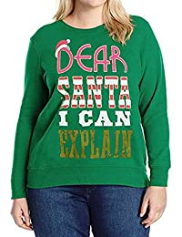Jersey De Navidad Blusa Tops Señoras Carta De Navidad Ropa Imprimir Cuello  Redondo Sudadera De Manga b73c435a0752