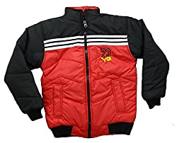 Alfa Yo Premium Full Sleeve Light Weight Quilted Polyfill Padded Water / Snow / Wind Proof Red-Black Jacket with Pockets [8 - 12 Yr]