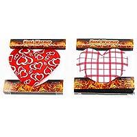 """KAMACA 2 er SET ( = 2 Stück ) praktische Taschenwärmer """" HEARTS /HERZEN """" - schnell wieder warme Hände / wiederverwendbar - Handwärmer in Herzform - gegen kalte Hände - Taschenkissen - ideal im Frühling Sommer Herbst Winter (LOVE)"""