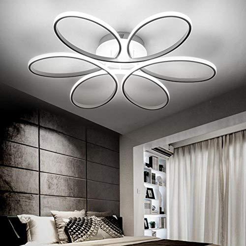 LED Lámparas de techo dormitorio de cama de matrimonio dormitorio de cama Romantica cálida Camera de bodas la niña moderna iluminación de salón moderna Luces de techo White light Focos de Techo Ø58 cm