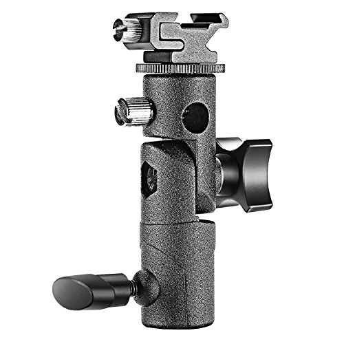 Neewer – Professionale Universale e tipo Speedlite Flash fotocamera Mount girevole staffa di supporto Flash ombrello Shoe Holder per Canon Nikon Pentax Olympus Nissin Metz e Altri Speedlite con standard Hot Shoe