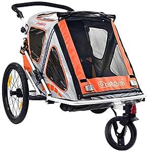 Qeridoo Q200A-Orange Speedid 2 Remorque vélo pour enfant Orange