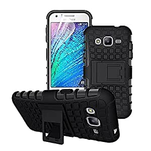 MVE(TM) Defender Shockproof Hybrid Armour back case cover for Samsung Galaxy E7 Kick Stand BLACK